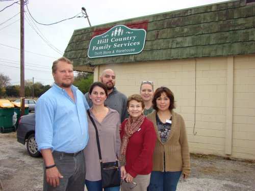 Jimmy, Christi, & Dustin with the wonderful ladies from Hill Country Family Services.